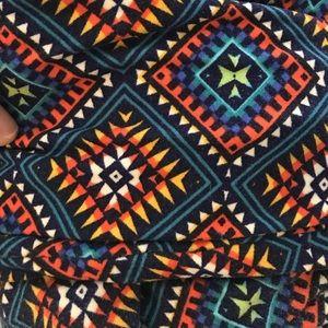 Lularoe tall curvy leggings New Mexico pattern